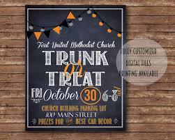 carnival flyer trunk or treat digital files flyer sign halloween fall carnival church event school invitation costume party fall festival craft fair