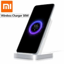 Original <b>Xiaomi Vertical</b> Air cooled Wireless Charger <b>30W</b> Max with ...