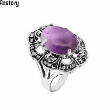 Oval <b>Pink Quartz</b> Amethysts Jades <b>Natural</b> Stone For <b>Women</b> ...