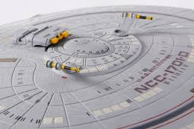 the trek collective triple tri nacelle enterprise d review when the ship is whole the second stand can be stored in the base of the main one which is pretty neat