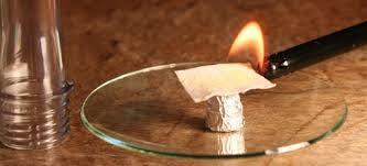 Image result for images of Fire prepared in laboratory using potassium permanganate