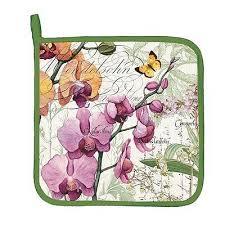 Butterflies <b>Michel Design Works PEONY</b> Potholder Floral