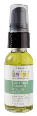 Aura Cacia <b>Organic Facial</b> Oil Serum <b>Soothing Tamanu</b> -- 1 fl oz ...