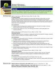 teacher resumefree resume templates