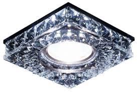Встраиваемый <b>светильник Ambrella light S251</b> BK, хром ...