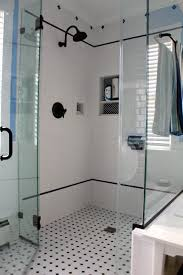 bathroom white tiles:  images about black and white tile patterns for vintage bath on pinterest black and white tiles subway tile showers and white subway tiles