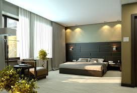 modern bedroom concepts: large modern bedroom with black and green design and separate sitting area