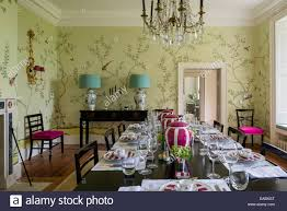 dining room green walls stock photography