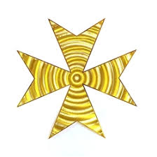 cross of saint germain - 18 karat <b>gold plated</b>