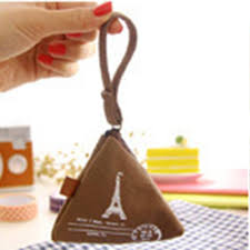 wholesale  <b>Unisex</b> Canvas <b>Small Mini</b> Triangle <b>Coin</b> Purses Money ...