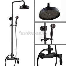 set sanitary taps shower black oil rubbed brass wall mounted bathroom bath rain shower faucet m