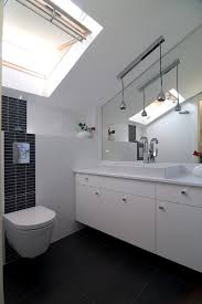 sloped ceiling lighting powder room contemporary with angled ceiling black and ceiling light sloped lighting