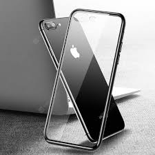 Transparent Tempered Glass Phone Case Back Cover for iPhone 7 ...