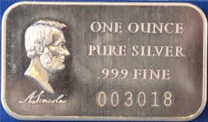Image result for one ounce bar of silver