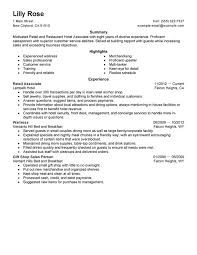 Retail and Restaurant Associate Resume Sample My Perfect Resume