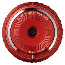 <b>Объектив Olympus Body Cap</b> Lens 15mm 1:8.0 (BCL-1580) красный