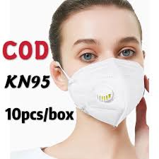 COD <b>10pcs</b>/box Kn95 <b>Masks</b> 5-ply <b>3D</b> Reusable With Valve <b>Face</b> ...