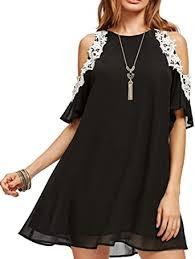 Amazon.com: Aofur <b>Summer Chiffon</b> Lace Dress Ladies 2018 Cold ...