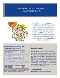 sports academy woodland christian high school woodland fall camps flyer word 1