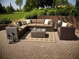 patio couch set  impressive on patio couch set avery island piece resin wicker patio sectional seating set with backyard