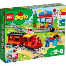 Купить конструктор <b>LEGO DUPLO Поезд на</b> паровой тяге 10874 в ...
