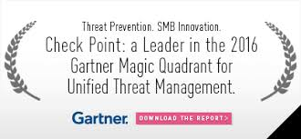 check point a leader in 2016 gartner magic quadrant for unified threat management utm check small
