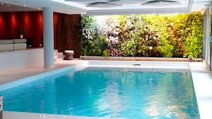beautiful white brown wood glass unique design house indoor pool modern small residential garden door wall amazing indoor pool house