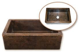 hammered copper kitchen sink: single bowl farmhouse copper sink houzer hammerwerks copper kitchen sink hw cop