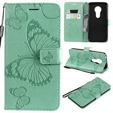 Cmeka 3D <b>Butterfly Wallet Case</b> for Motorola Moto G7 Power(Not ...