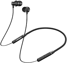 Lenovo HE05 Neckband Bluetooth Headset-Black ... - Amazon.com