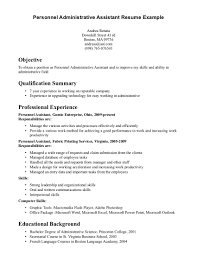 admin assistant resume skills cipanewsletter administrative assistant objectives examples best business template