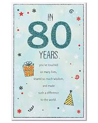 American Greetings in 80 Years 80th <b>Birthday Greeting Card</b> with ...