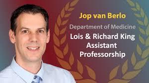 cardiovascular division department of medicine university of jop van berlo awarded king asst professorship