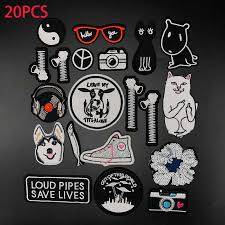1 Pcs <b>Funny Dog Patch Iron</b> on Patch Clothing Diy Embroidery ...