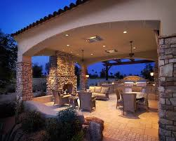 backyard covered patio ideas fire pit