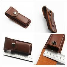 "5"" Cowhide Leather Sheath <b>Pocket Folding</b> Knife <b>Multi</b> Tool Case ..."
