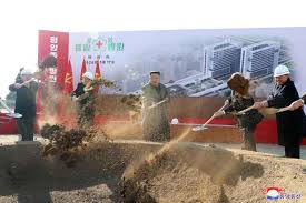 Ground-breaking ceremony for construction of Pyongyang General Hospital