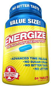 Energize Caffeine Energy Pills - Healthy Focus Brain ... - Amazon.com
