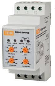 <b>Реле напряжения</b> РН 04-3х400/230В <b>TDM</b>, Реле контроля ...