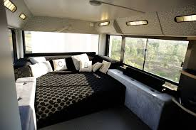 a home on wheels 15 converted buses we love domain bedroom converted home