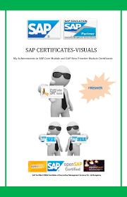sap certificate visuals including score cards