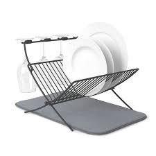 <b>Сушилка для посуды</b> c ковриком <b>Umbra</b> xdry серая — купить по ...