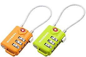 <b>Munkees</b> Tsa Cable <b>Combination Lock</b>, Luggage, Travel Padlock ...