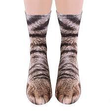 Engmoo Cat Paw Socks Animal 3D Socks Novelty ... - Amazon.com