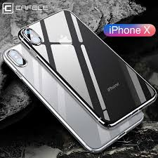 <b>CAFELE Silicone Phone Case</b> for iPhone X Transparent TPU ...