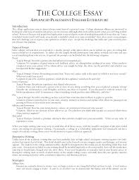 example college essay template example college essay