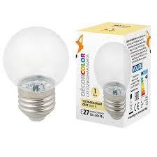 <b>Лампа</b> декоративная светодиодная (ul-00005807) <b>volpe e27 1w</b> ...