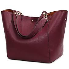 Pahajim fashion Women PU Leather Bucket Bag ... - Amazon.com