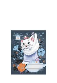 <b>Тетрадь Marie Cat 12л</b> ЛИНИЯ, скоба, карт D3192/5-EAC 48904260