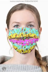 <b>Ice</b> Cream and Popcicles <b>Cloth</b> Face <b>Mask</b> | Zazzle.com in 2020 ...